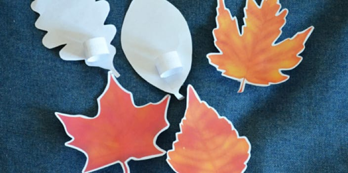 autumn leaf puppets